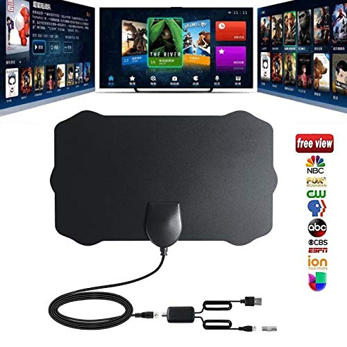 120 Miles TV Antenna,Ai CAR FUN 1080P Digital HDTV Indoor TV Antenna with Amplifier Signal Booster TV Radius Surf Fox Antena HD TV Antennas Aerial 4M Long Cable