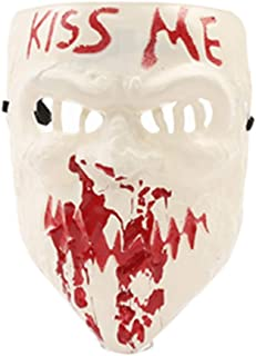 baoshihua The Purge Kiss Me Mask Halloween Costume Accessory Scary Mask for Halloween Christmas Party Dress up Prop