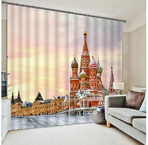 MUXIAND ondoorzichtige 3D venster gordijnen voor de woonkamer Slaapkamer gordijnen gordijnen op maat constructie kussensloop