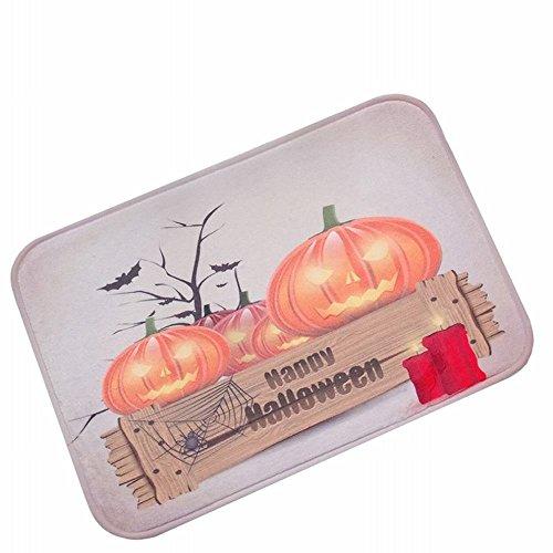 Teppich Halloween Kürbis Licht Festival Festmatte Erntedankfest Dekoration Geschenk Tür Matte,A,50 * 80 AN