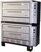 Peerless Ovens Model CE62PESC - Three Phase - Double Stack CE61PE Twin Door Electric Pizza Oven with Side Controls