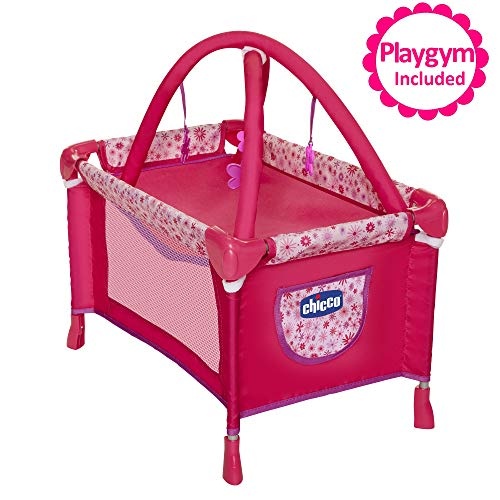 "Baby Doll Playard Converts to Baby Doll Playmat, Baby Playpen with Mobile Included, Forup To 18"" Baby Dolls, Perfect Gift for Girls 3 Year Old & Up"