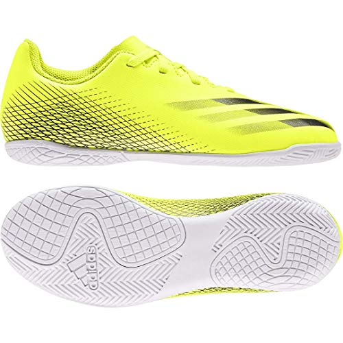 adidas X GHOSTED.4 IN J, Zapatillas de fútbol, Amasol/NEGBÁS/AZUREA, 31.5 EU