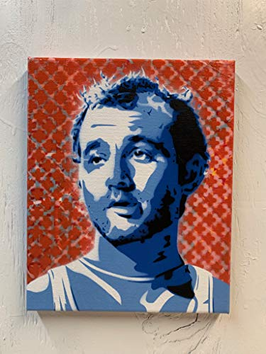 Bill Murray Painting on Stretched Canvas 8x10 Inches
