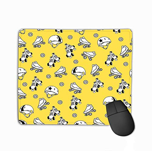 Gaming Mouse Pad Oblong geformte Mausmatte Nahtloses Muster Thema Roller Derby Rollschuh Thema Roller Derby Rollschuh