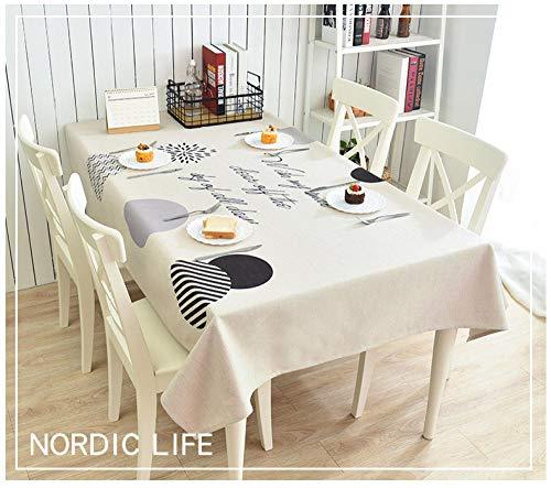 SZTTDM Tischdecken Aus Baumwolle Und Leinen FüR Tischdecken, Tischdecken, Bankette, Banketttische,A,140x200cm