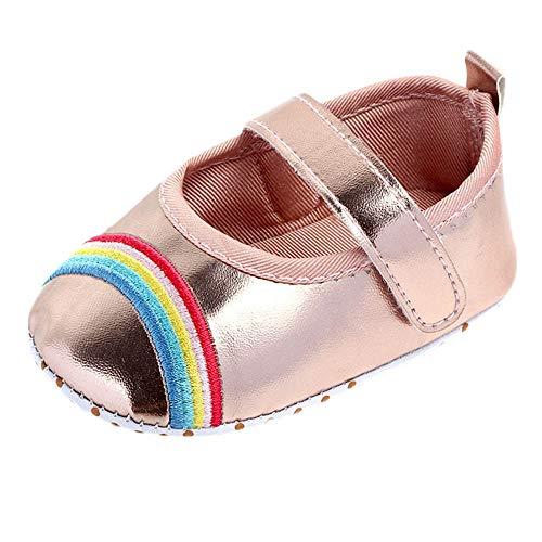 Mitlfuny Niñas Bebe Primeros Pasos Zapatos de Cuero Bebé Primavera Verano Arcoiris...