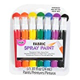 Tulip Permanent Fabric Spray Paint, 7 Pack, Rainbow, Nontoxic, Non-Aerosol