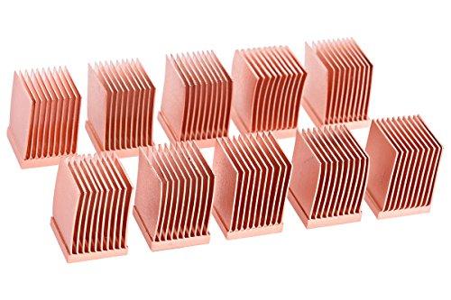 Alphacool 17426 GPU RAM Copper Heatsinks 10x10mm - 10 STK. Luftkühlung Passivkühler