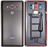 SPES Cache Batterie pour Huawei Mate 10 Pro Noir, Cache Batterie, Cache arrière/lentille de...