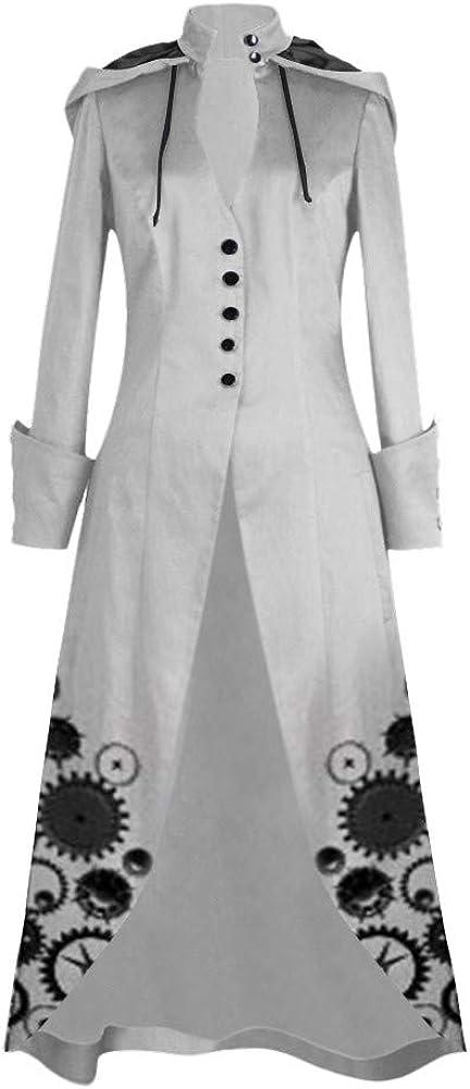 Finebo Femme Manteau Vintage Automne Hiver Manche longue Slim Fit Dentelle Smoking Veste Jacket Punk Gothique Chic