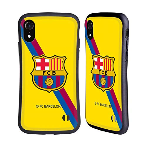 Head Case Designs Oficial FC Barcelona Segunda equipación 2019/20 Crest Kit Carcasa híbrida Compatible con iPhone XR