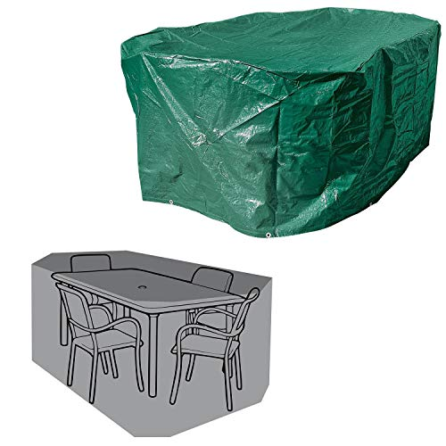 Parkland Oval Garden Furniture Cover, Lightweight and Durable Outdoor Waterproof Cover for Garden Table and Chairs L213 x W132 x H74cm