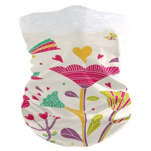 AJINGA Sturmhaube, Gesichtsmaske für Damen, mit Innentasche, 2 Filter, Halstuch, Flora One Size Mehrfarbig1