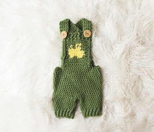 Tractor Overalls Crochet Pattern - All Sizes Newborn Baby through 1-2 Year Toddler...