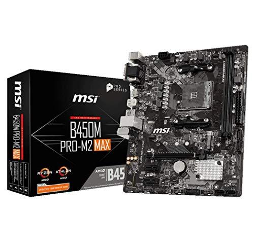 MSI B450M Pro-M2 MAX mATX Mainboard Sockel AM4 M.2/DVI/HDMI/VGA