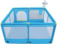 TTW Playpen Safety Fence,Children's Play Fence Baby Safety Fence Infant Toddler Crawling Mat Anti-fall Fence Indoor Outdoor Household,128X128X66cm (Color : A)