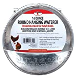 Little Giant Hangable Poultry Waterer Galvanized Round Hanging Poultry Waterer (Item No. 167451)