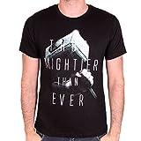 Thor Herren T-Shirt Plus puissante Que jamais Marteau Mjolnir Marvel Coton Noir - L