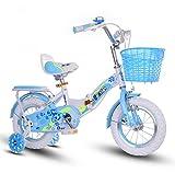 Sheng Bicicleta Plegable 16-18 Pulgadas pupilas niños niña Bicicletas Rosa (Color : Azul, Tamaño : 18inch)
