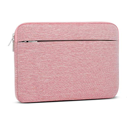 Laptop Sleeve 13-13.3 Inch, AtailorBird Notebook Protective Bag Carrying Case Water-Repellent with Accessory Pocket for Ultrabook Tablet Cover Case, Pink
