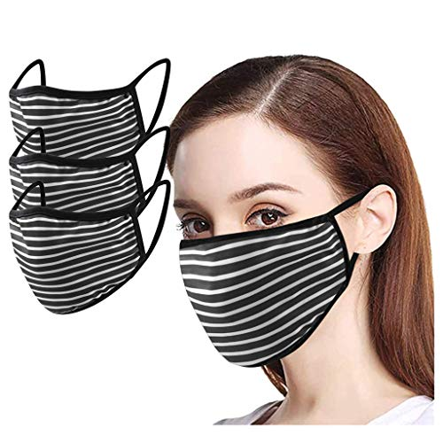 Best Buy! Wenini Pack 3 Unisex Washable and Reusable Cotton Warm Face_Protection for Outdoor Adjusta...