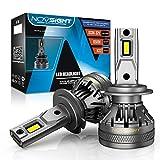 NOVSIGHT Kit de 2 Ampoules LED H7 de Voiture 120W(60Wx2) 22000LM(11000LMx2) Phares Avant pour Auto 6500K Blanche