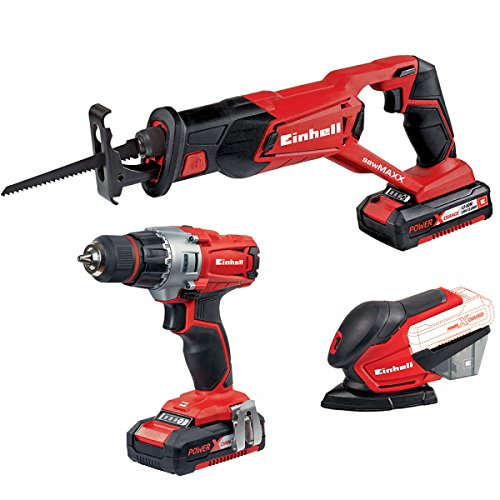 Preisvergleich Produktbild Einhell Werkzeug Set 3 A Ladegerät Ion 18 V 2, 0 Ah-TK 18 / 1 Li Power X Change Expert Plus 4257212