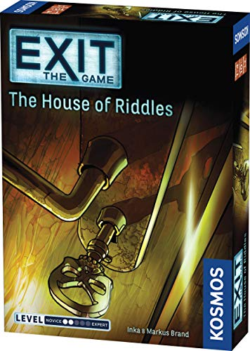 Exit: The House of Riddles | Exit: The Game - A Kosmos Game from Thames & Kosmos | Family-Friendly, Card-Based At-Home Escape Room Experience for 1 To 4 Players, Ages 10+, Multi-colored