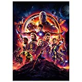 Avengers Infinity War Poster Marvel Movie Canvas Wall Art Superhero Characters HD Print Painting Pictures for Home Wall Room Decor Boy Gift 12x16.5inch (Unframed, Q-Avengers03)