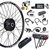 Bike Conversion Kit 48V 500W Rear Wheel Motor Electric Bike Kit with PAS