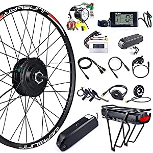 Electric Bikes Bike Conversion Kit 48V 500W Rear Wheel Motor Electric Bike Kit with PAS and BAFANG LCD Display [tag]