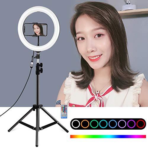Alan 10 Pulgadas Aro de Luz con Tripode 110cm, Ring Light para Maquillaje, Tiktok, Stream, Fotografia, Vlog - Control Remoto
