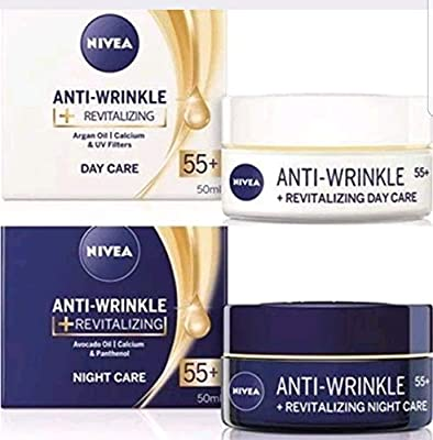 Pack of 2 NIVEA anti-wrinkle + Revitalizing Day + Night Cream