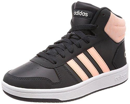 adidas Unisex-Kinder Hoops MID 2.0 Basketballschuhe, Grau (Carbon/Hazcor/Greone 000), 31 EU