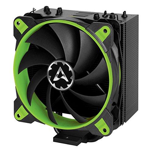 ARCTIC Freezer 33 eSports ONE - Tower CPU Luftkühler mit 120 mm PWM Prozessorlüfter für Intel und AMD Sockel, für CPUs bis 200 Watt TDP, leiser und effizienter Cooler - Grün