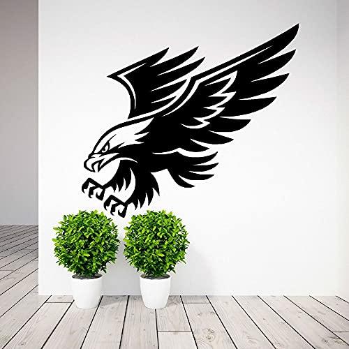 Dominante American Bald Eagle Raptor Paws Wings Fly Big Bird Etiqueta de la pared Vinilo Calcomanía para automóvil Dormitorio de niño Sala de estar Studio Club Office Decoración para el hogar Mur