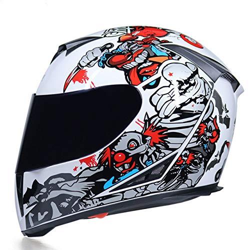 Waschbares Innenfutter mit Motorradhelm und doppeltem Objektiv Stilvoller, schnell lösbarer Rennhelm Casco Casque Moto-a54-M