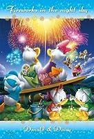 70ピース ジグソーパズル プリズムアートプチ ディズニー 夜空の花火 (10x14.7cm)