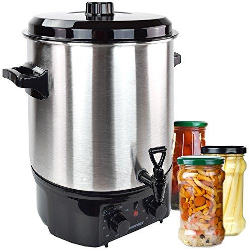Syntrox Germany 27 Liter Einkochautomat, Glühweinkocher, Heißgetränkeautomat vollautomatisch aus Edelstahl mit 2000W