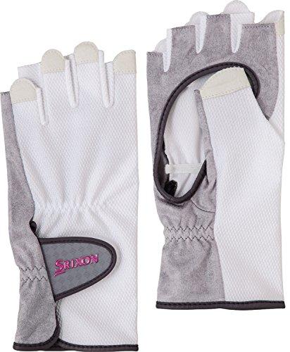 DUNLOP(ダンロップ) レディース テニス グローブ ハーフタイプ 両手セット 手のひら側穴あきタイプ SGG0710 ホワイト(003) M
