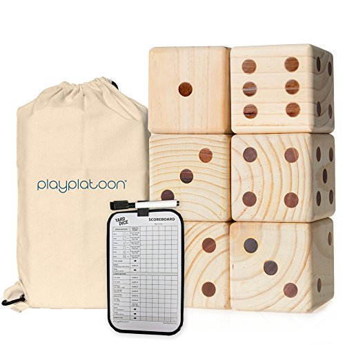 Play Platoon Lawn Dice - Giant Wooden Yard Dice Game for Playing Endless Outdoor Games