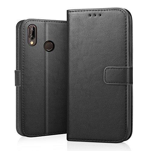 Cover Huawei P20 Lite, RIFFUE Custodia in Pelle PU - Libro Caso con Fessure di Carta, Chiusura Magnetica, Supporto Stand,...