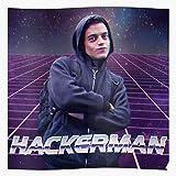 valungtung Man Hacking Hack Hackerman Hacker Funny Meme Computer Print Modern Typographic Poster Girl Boss Office Decor Motivational Poster Dorm Room Wall