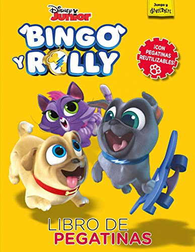 Bingo y Rolly. Libro de pegatinas: Con pegatinas reutilizables (Disney. Bingo y Rolly)
