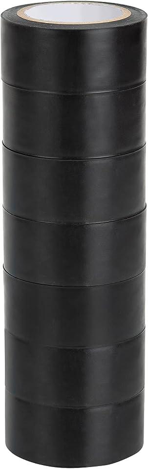Isolierbänder 2.5cm x 10m Schwarz PVC Elektriker Klebeband Wasserdicht Elektrisches Isolierband 7 Stück