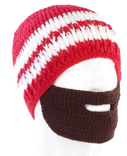 Bonnet avec barbe - Rouge / blanc
