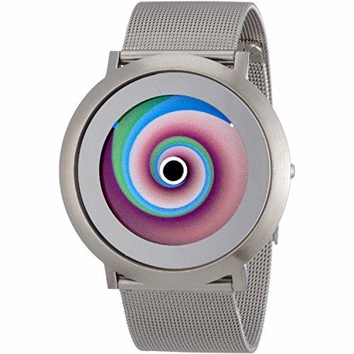 Colour Inspiration, Unisex Armbanduhr Quarz, Serie ONE Vertigo L, satiniertes Edelstahlgehäuse Silber 44mm, Armband:Edelstahl Clip Armband Milanese, Breite Armband:22 mm