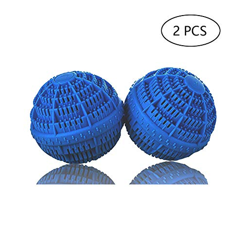 BERON Set of 2 Eco-Friendly Laundry Balls for 1500 Washings(Deep Blue)