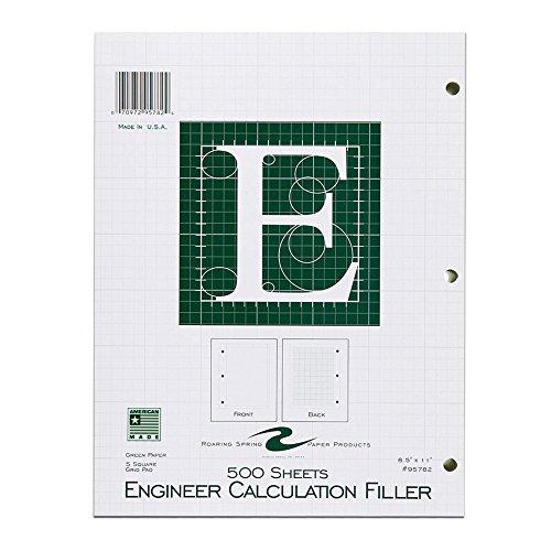 "Roaring Spring Engineering Filler, 8.5"" x 11"", Green, 500 sheets"